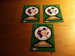 1988 Fleer Team Logo Trophy Stickers Rangers Lot of 3