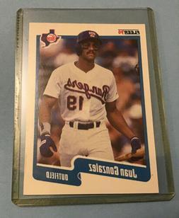 1990 fleer juan gonzalez baseball card 297