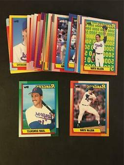 1990 Topps Texas Rangers Team Set With Traded 39 Cards