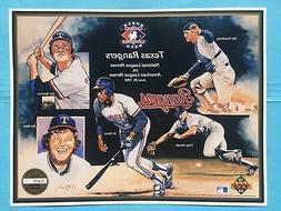 1992 Texas Rangers Upper Deck Sheet Heroes Team Issue UD SGA