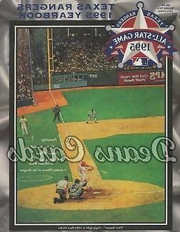 1995 Texas Rangers Yearbook - Will Clark artwork