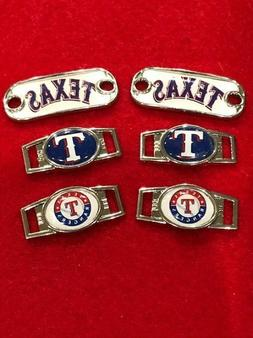 2 ~ Texas Rangers MLB Paracord Charms Oval or Mini Dog Tag s