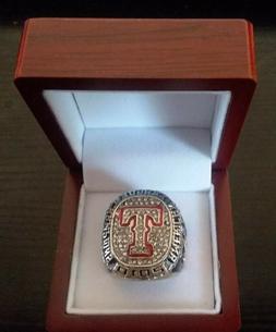 2010 TEXAS RANGERS World Series Championship Ring 18k GOLD P