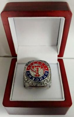 2011 Texas Rangers AL Championship Ring WITH Wooden Box