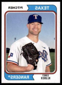 2020 Archives Base #152 Corey Kluber - Texas Rangers
