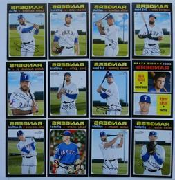 2020 Topps Heritage Texas Rangers Base Team Set of 12 Baseba