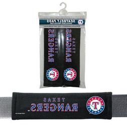 2PC MLB Texas Rangers Car Truck Bag Seat Belt Pads / Shoulde