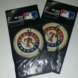 2x Mlb Texas Rangers Baseball Pine Scent Air Freshener