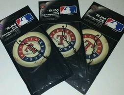 3x Mlb Texas Rangers Baseball Pine Scent Air Freshener