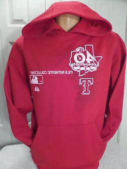 9601-21 Majestic TEXAS RANGERS Therma Base Hoodie RED Jersey