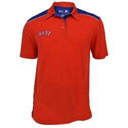 Authentic MLB Texas Rangers TX3 Cool Red Texas Polo Shirt wi