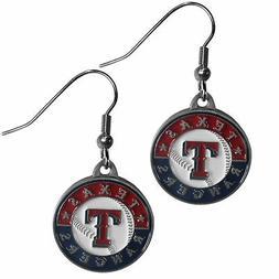 Siskiyou BDE105 MLB Dangle Earrings - Texas Rangers