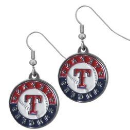 Siskiyou BDE105N TX Rangers Chrome Dangle Earrings