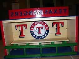 Texas Rangers Bobble Head Display Case Handcrafted Pinewood