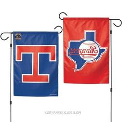 """Brand  New MLB Texas Rangers 2 Sided 12.5 X 18"""" Cooperstown"""