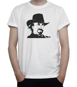 Chuck Norris Bw Portrait T-<font><b>Shirt</b></font> Walker