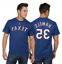 Majestic Cole Hamels Texas Rangers Official Name and Number