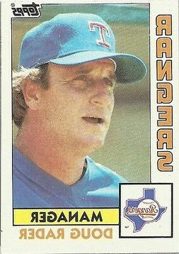 Doug Rader. Manager. Texas Rangers. Topps 1984. In Protectiv