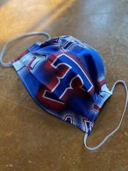 Fabric Face mask Washable Reusable Texas Rangers Baseball  C