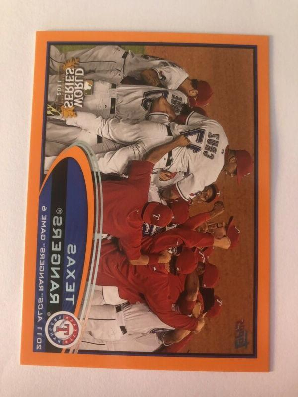 2012 topps exclusive factory set orange parallel