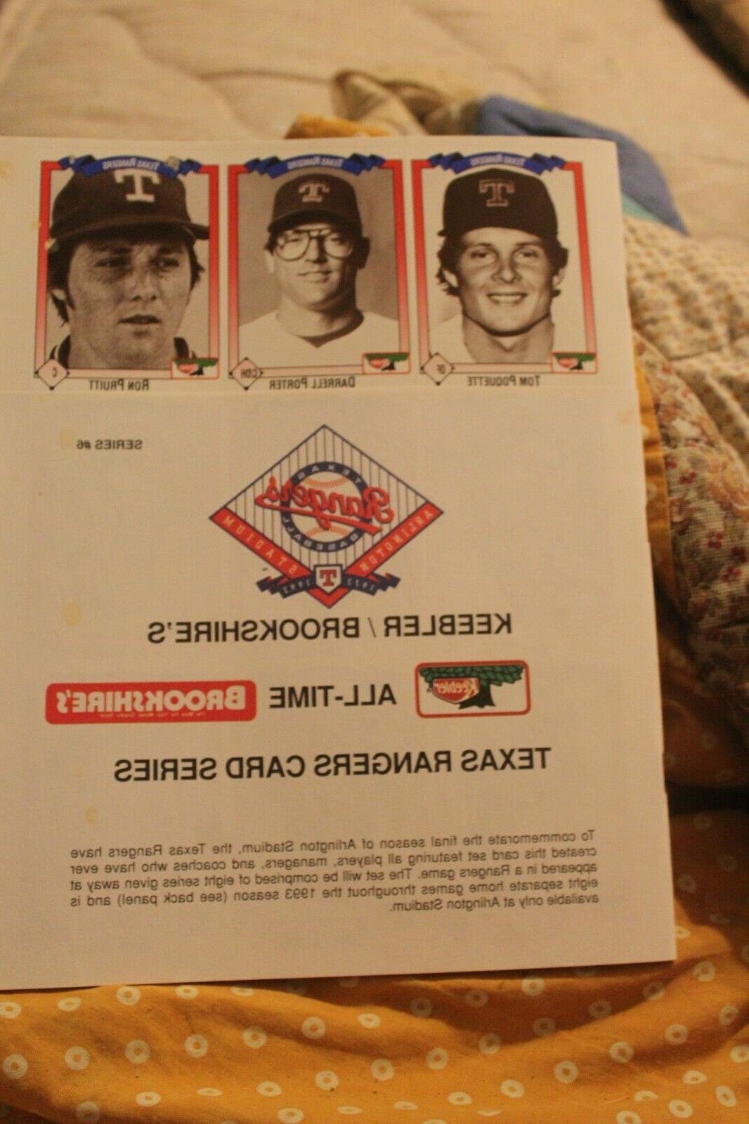 all time texas rangers keebler card series