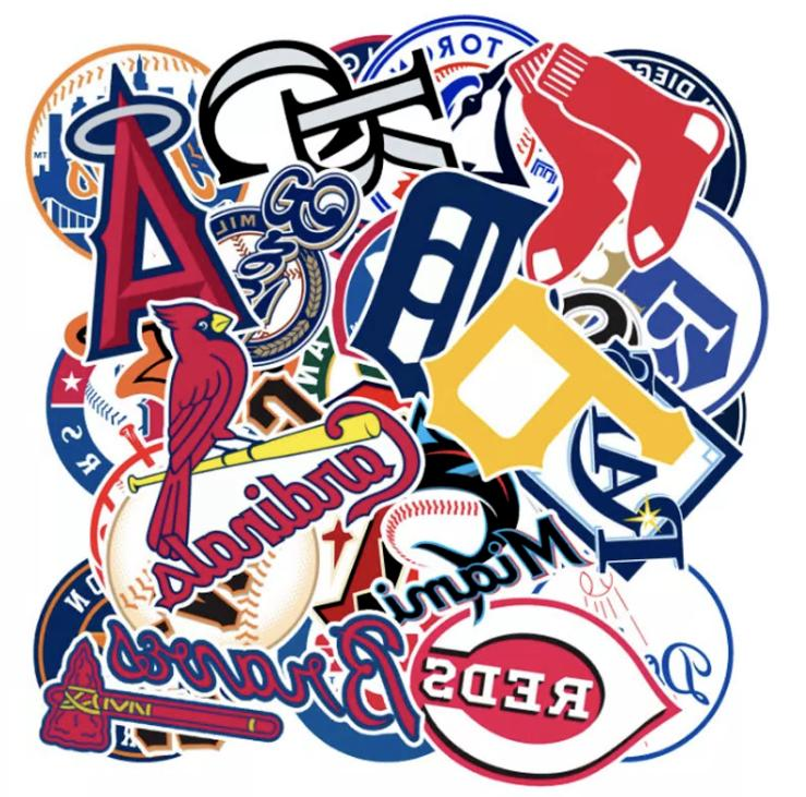 baseball teams logo decal vinyl stickers