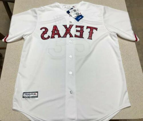 cole hamels 35 texas rangers baseball jersey