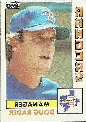 doug rader manager texas rangers topps 1984
