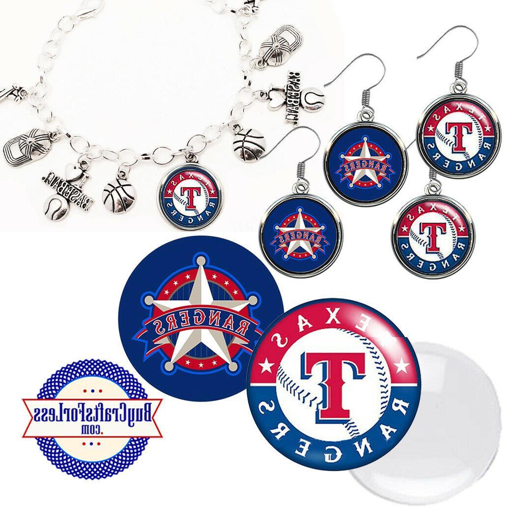free design texas rangers earrings pendant bracelet