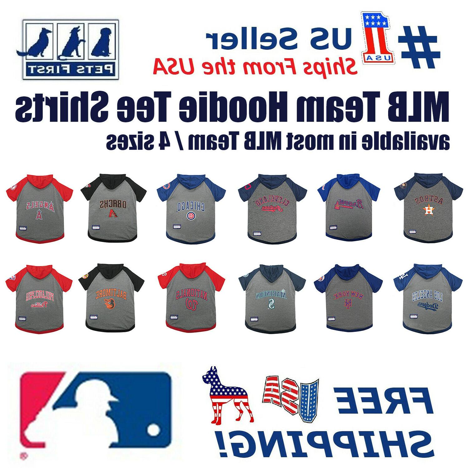 mlb hoodie tee shirt for dogs licensed