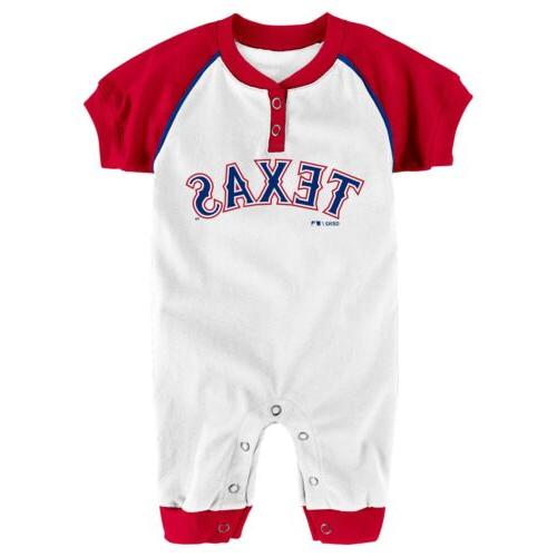 Outerstuff MLB Infants Texas Rangers Game Time Short Sleeve