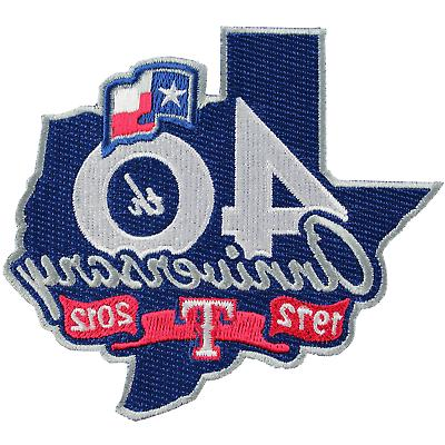mlb texas rangers anniversary embroidered