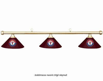 mlb texas rangers burgundy metal shade brass
