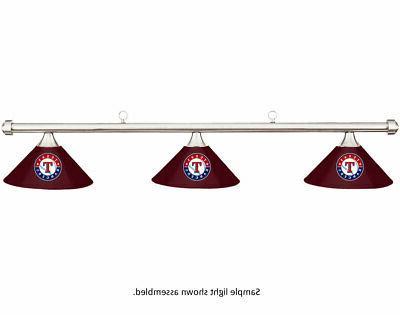 mlb texas rangers burgundy metal shade chrome