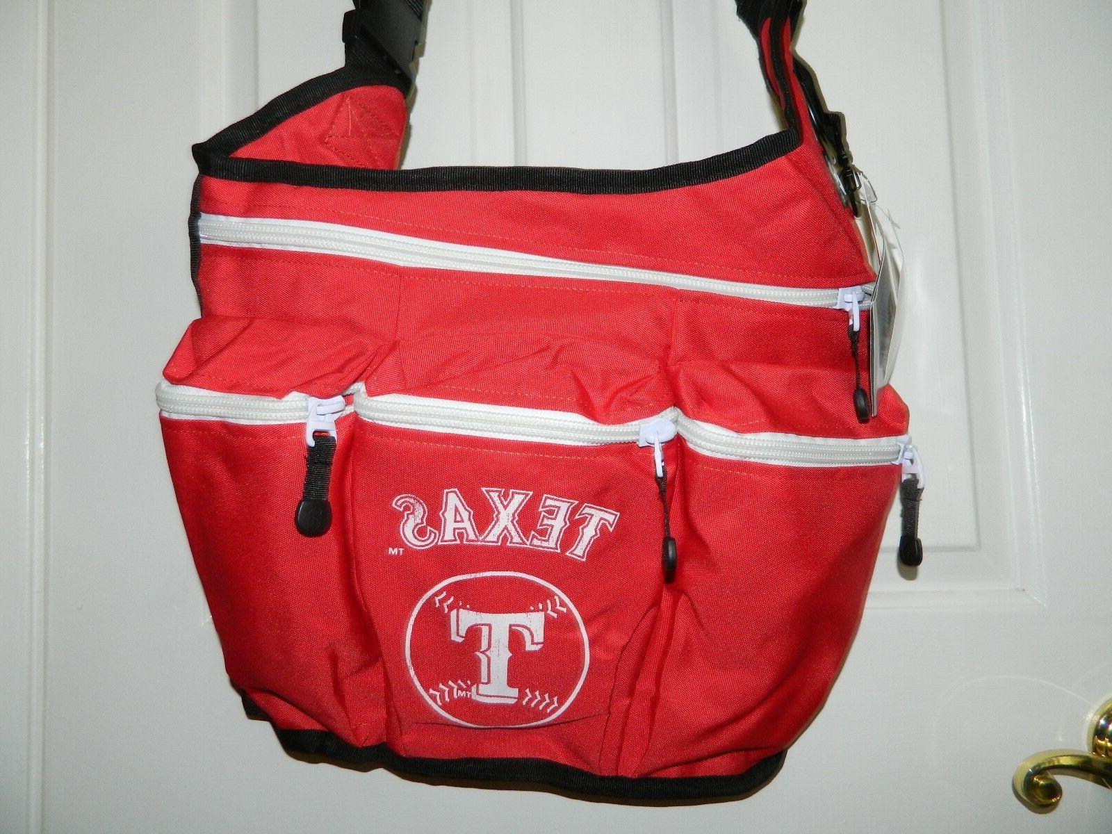 mlb texas rangers red messenger diaper bag
