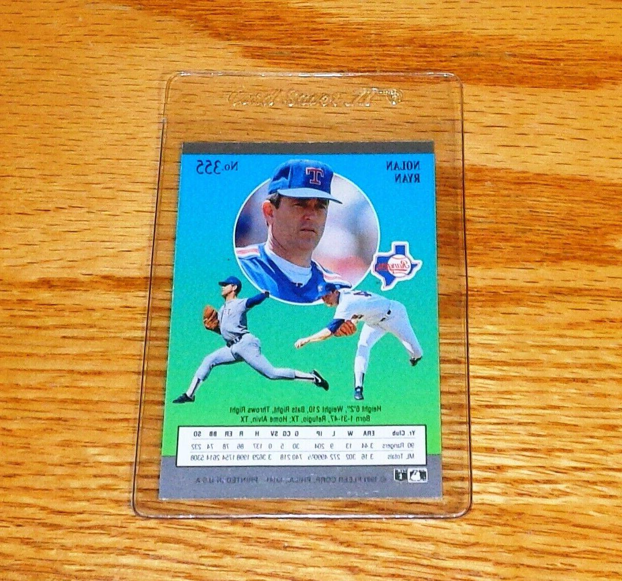 "New Card Ryan"" 1991 Ultra #355 Texas Rangers Sleeve"