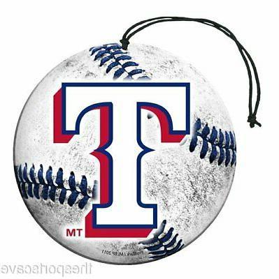 texas rangers baseball air freshener vanilla scent