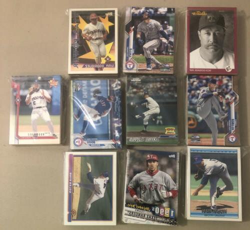 texas rangers baseball cards mixed 30ct lots