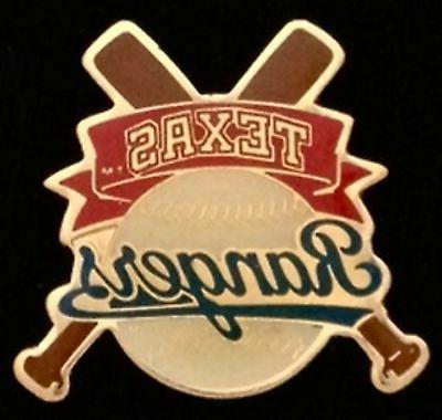 texas rangers baseball pin badge mlb cross