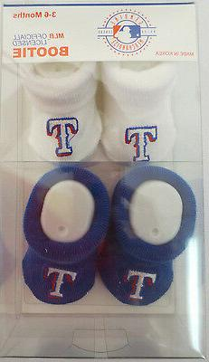 TEXAS RANGERS BOOTIE BOOTIES BABY INFANTS SHOES STITCH AKM M