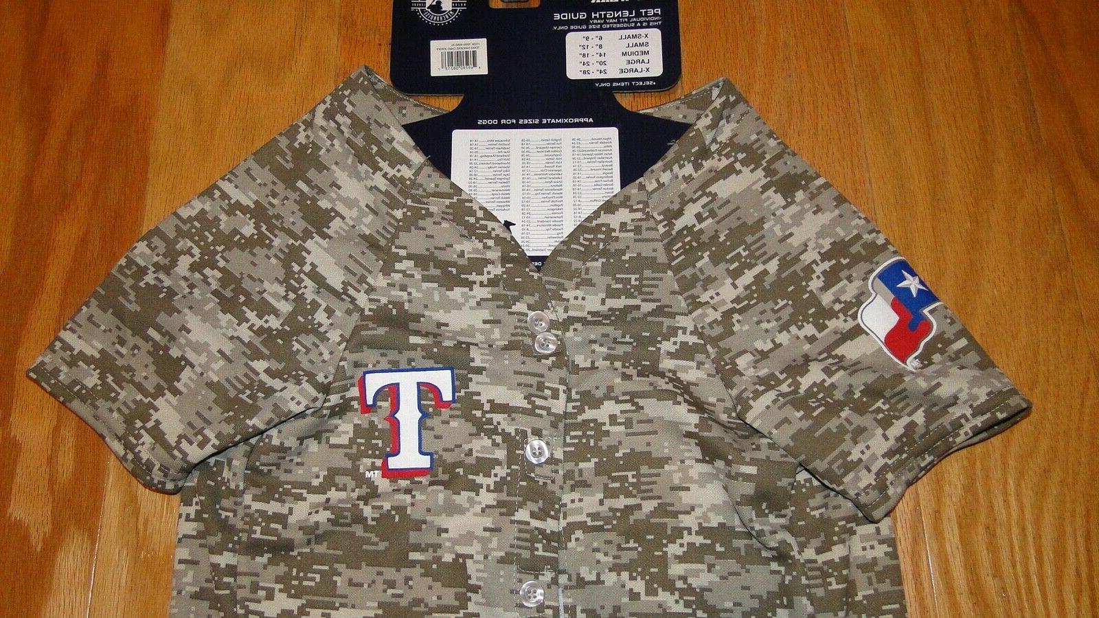 Pets Texas Rangers Camo Size Wear MLB