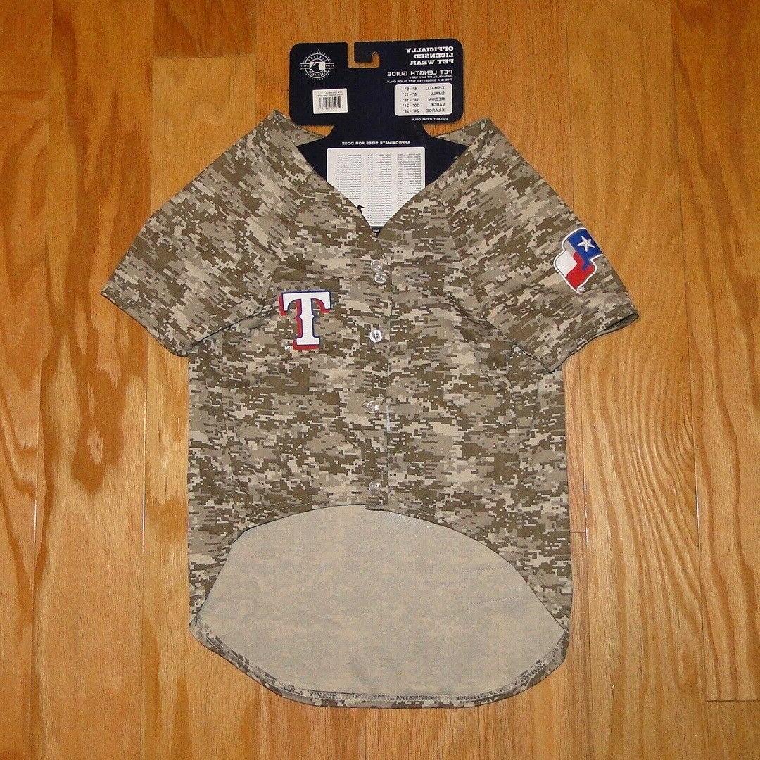 Pets First Texas Rangers Camo Baseball Size XL Pet Wear