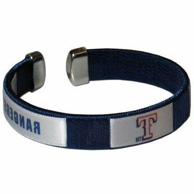 Texas Rangers Fan Band Bracelet MLB Licensed Baseball Jewelr