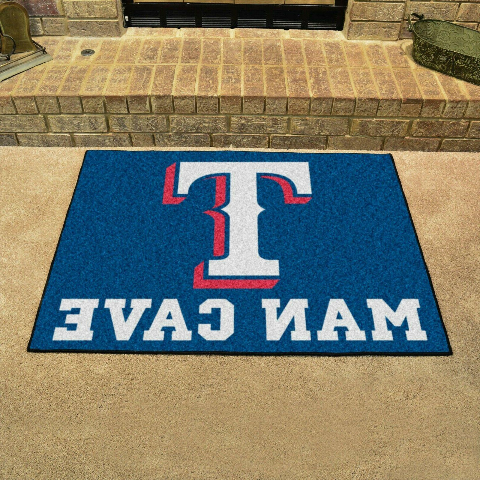 "Texas Rangers Man Cave 34"" x 43"" All Star Area Rug Floor Mat"