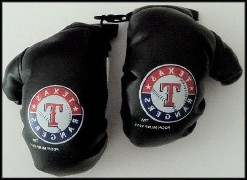 Texas Rangers Mirror Mini Boxing Glove Black