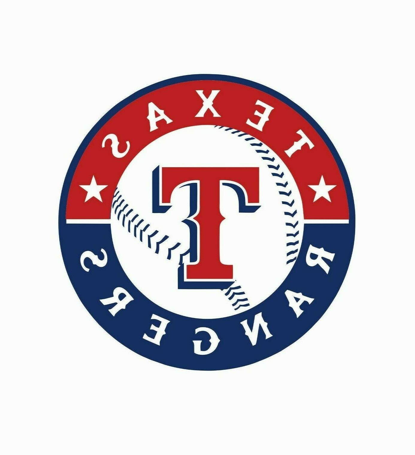 texas rangers mlb baseball color sports decal