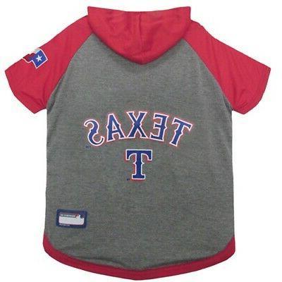 texas rangers pet hoodie t shirt large
