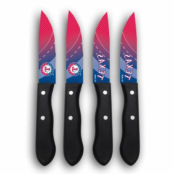 texas rangers steak knife set 4 pack