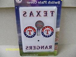 MLB licensed Texas Rangers baseball metal single light switc
