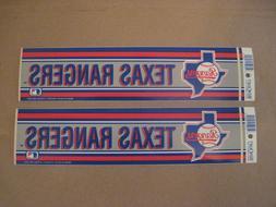 Lot Of  Vintage Texas Rangers 1990's Wincraft Bumper Sticker